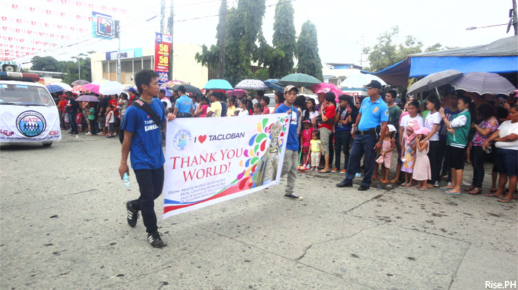 Tacloban says Thank You World!