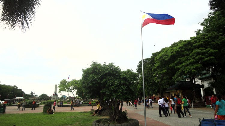 Filipinos in a park