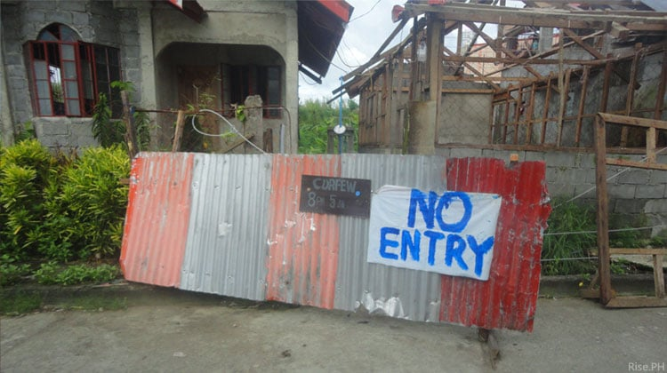 no entry curfew