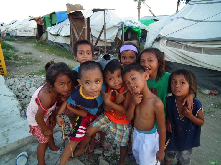 The children of homeless Haiyan Survivors