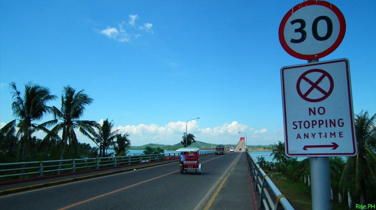 San Juanico Bridge going up