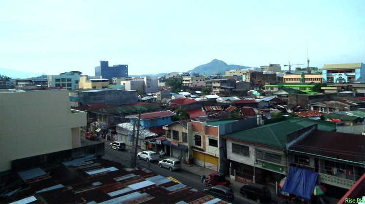 Tacloban downtown top view