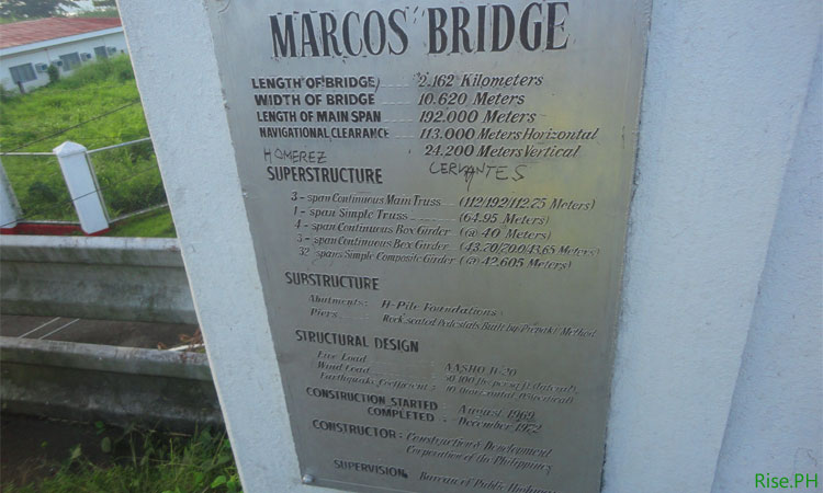 Marcos Bridge Information