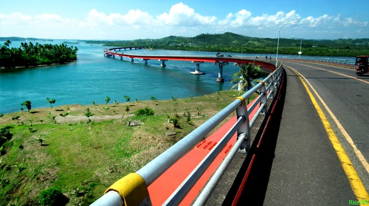 The S shape part of San JuanicoBridge
