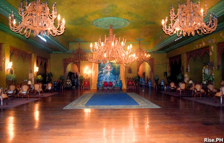 The grand ballroom in Sto. Niño Shrine Museum in Tacloban City
