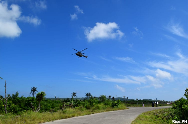 Helicopter near Guiuan Airp