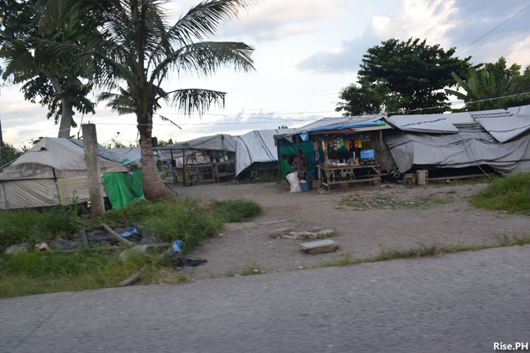 Tents in Old Road Sagkahan