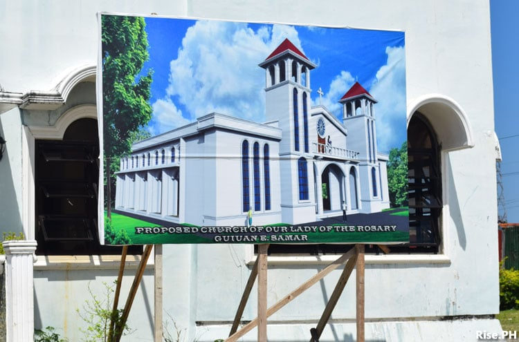 Proposed church in Guiuan