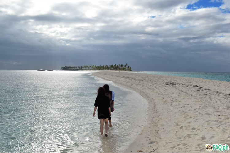 walking at Kalanggaman sandbar