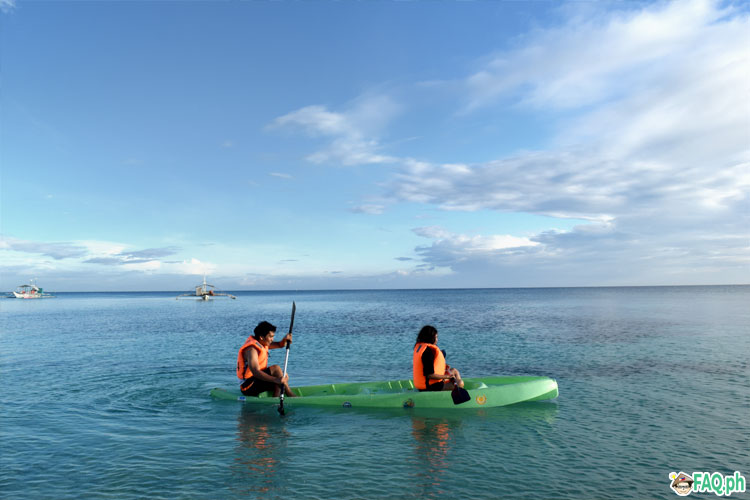 Kayaking at Kalanggaman Island
