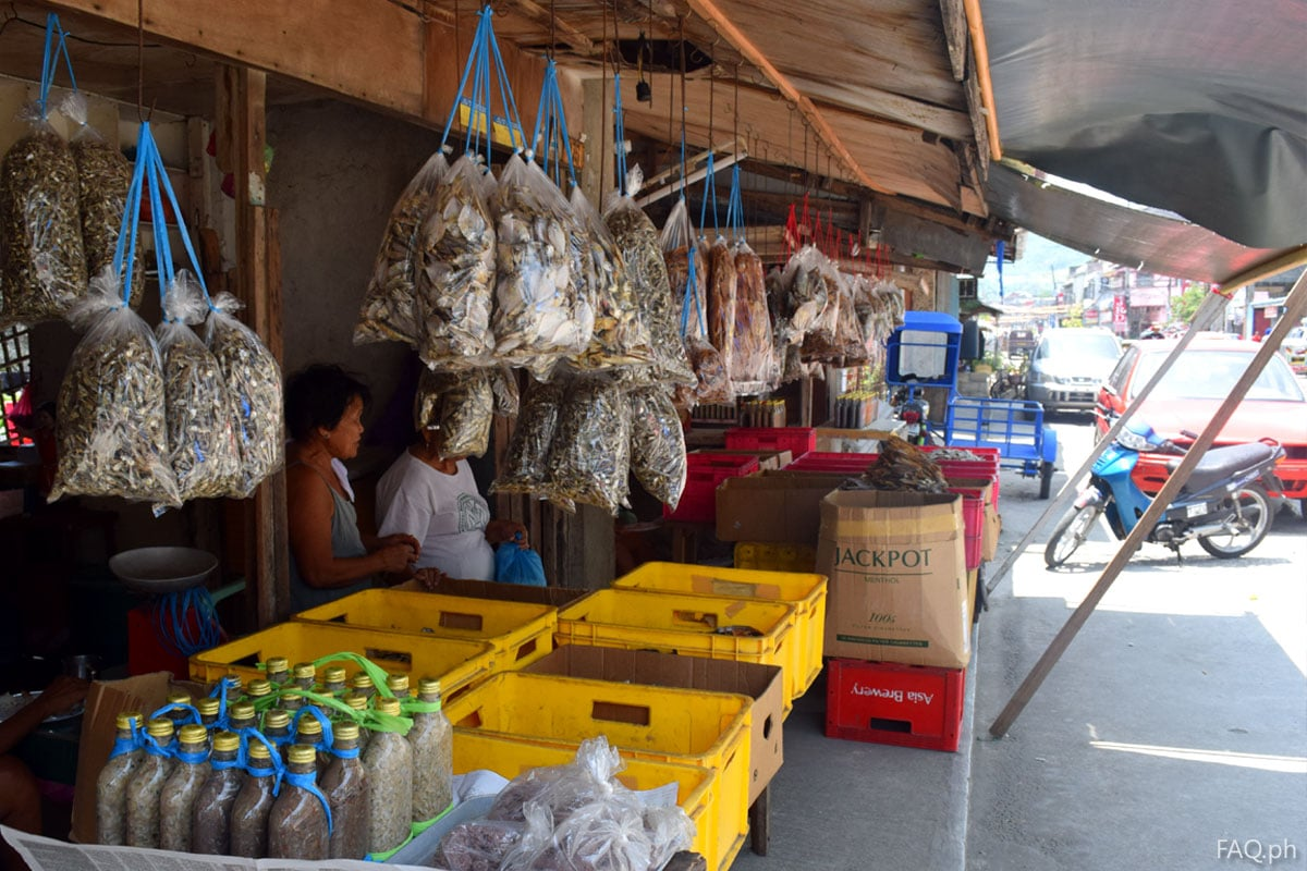 Dried fish, dried squid and sisi in Catbalogan