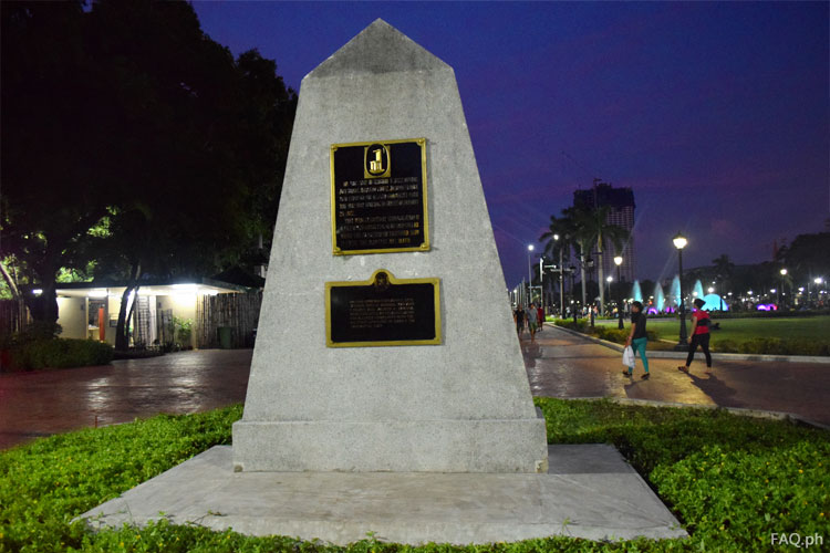 GOMBURZA marker at Rizal Park