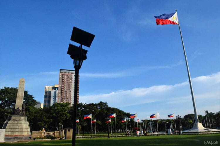 Independent flagpole Rizal Park, Philippines