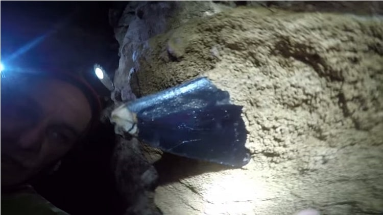 Megalodon tooth in samar cave