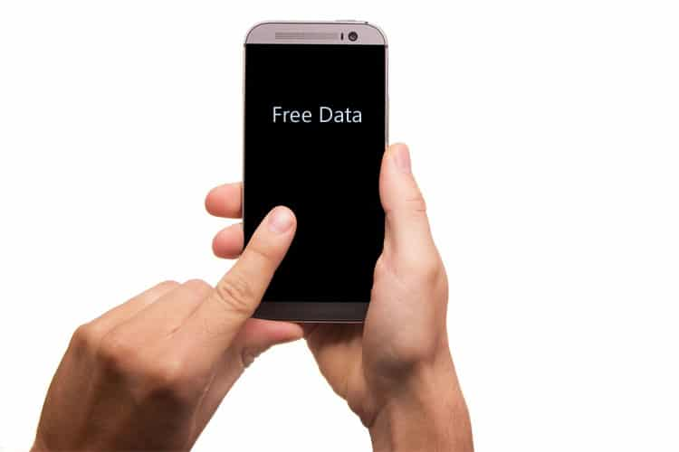 Free mobile Internet data