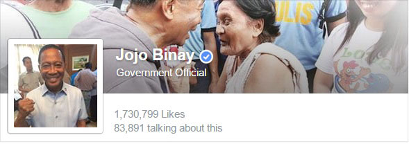 Jojo Binay Facebook