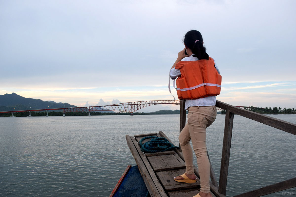Taking Picture of San Juanico Bridge