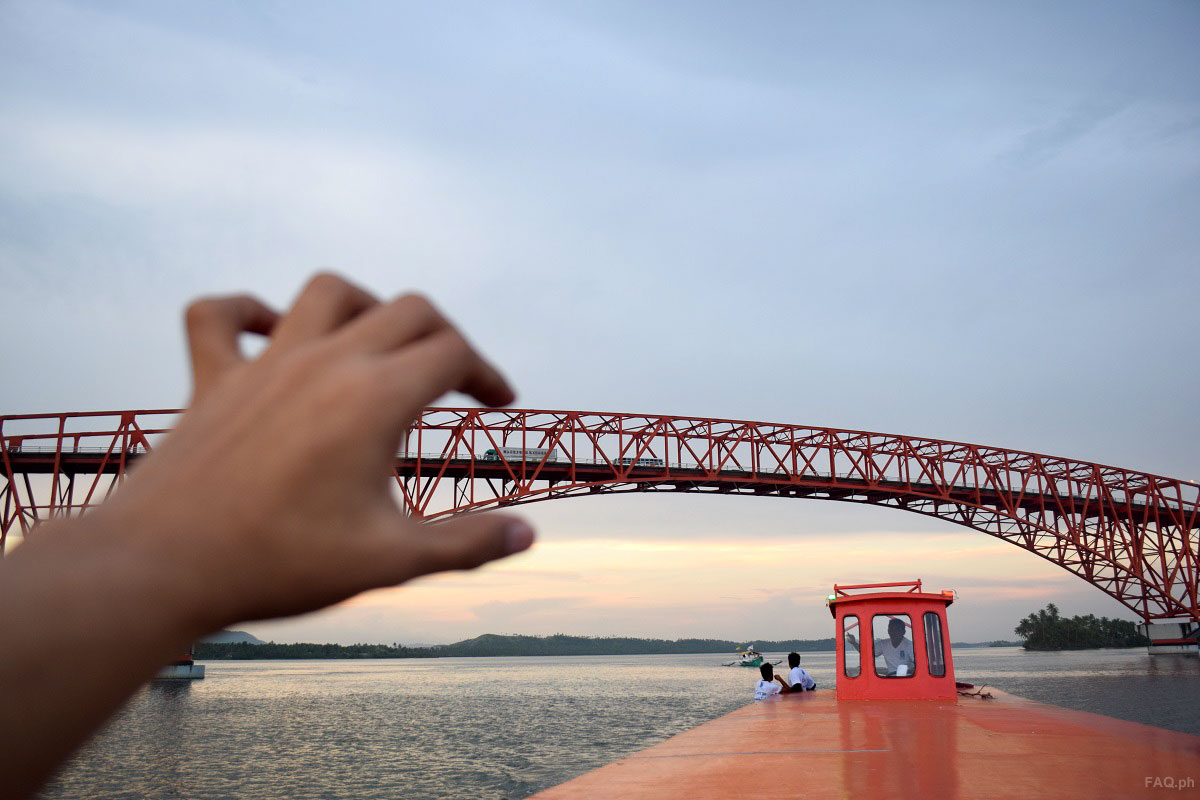 Fun picture of San Juanico Bridge