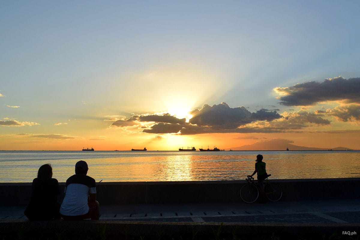 Romantic sunset at Manila Bay