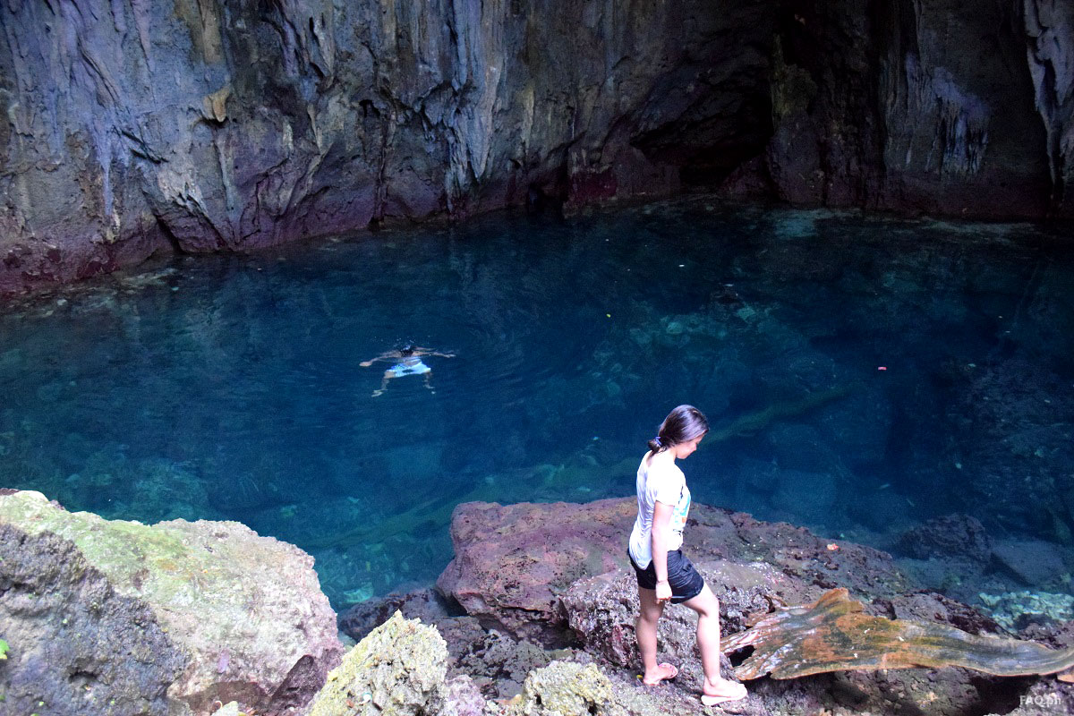 Linao cave swimming