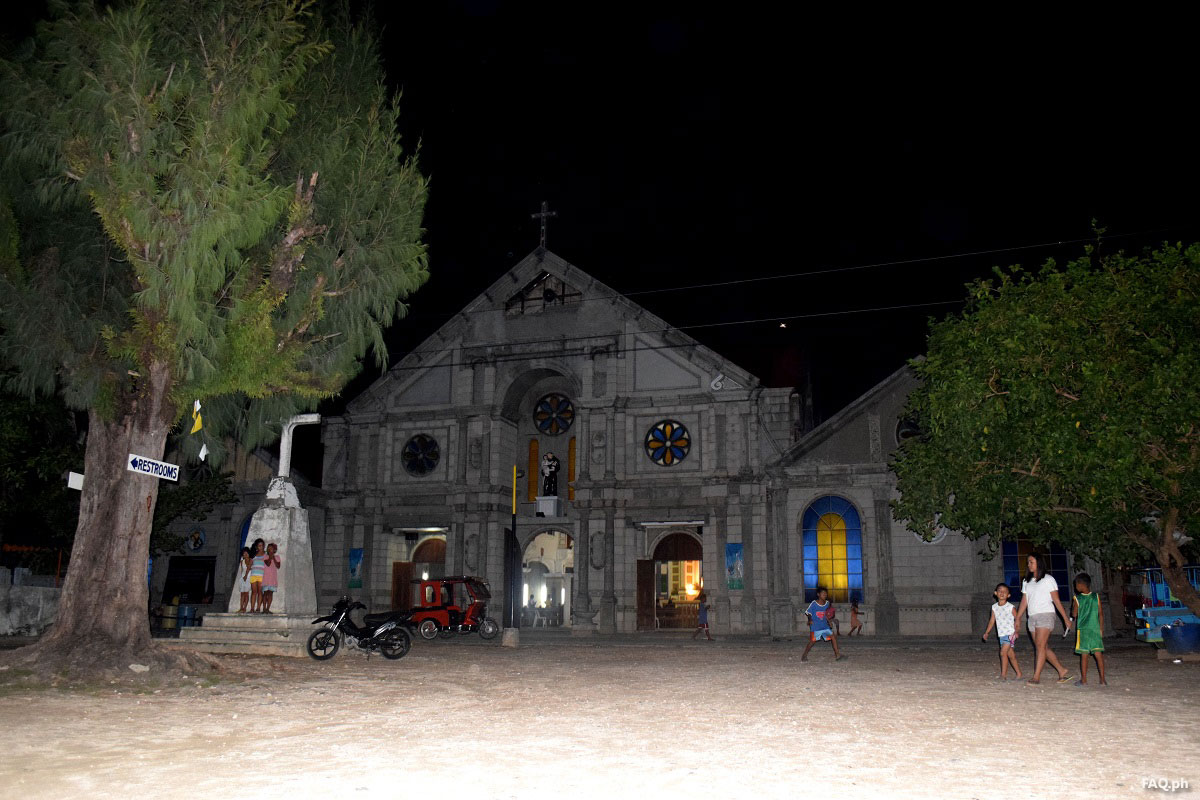 Sulangan Church at night