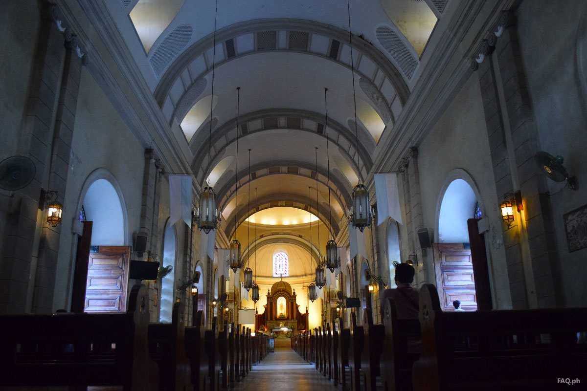 The interior of Malate Church