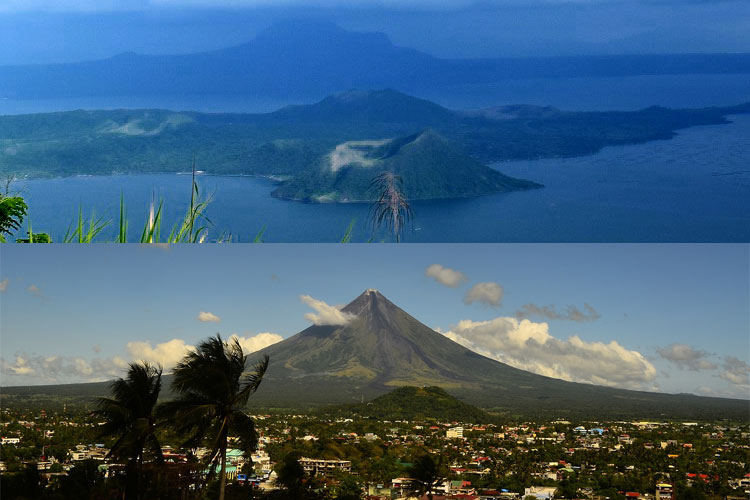 Taal and Mayon Volcano