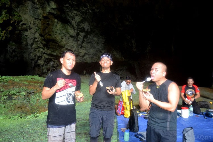 Eating Binagol in Calbiga Cave