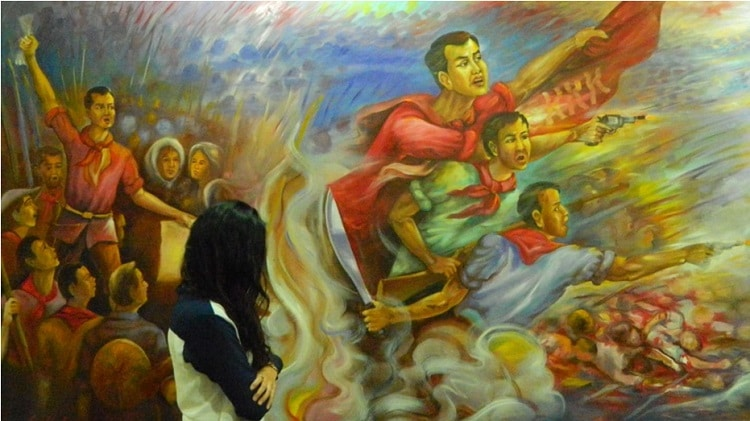 Life of Andres Bonifacio painting by Pancho Piano